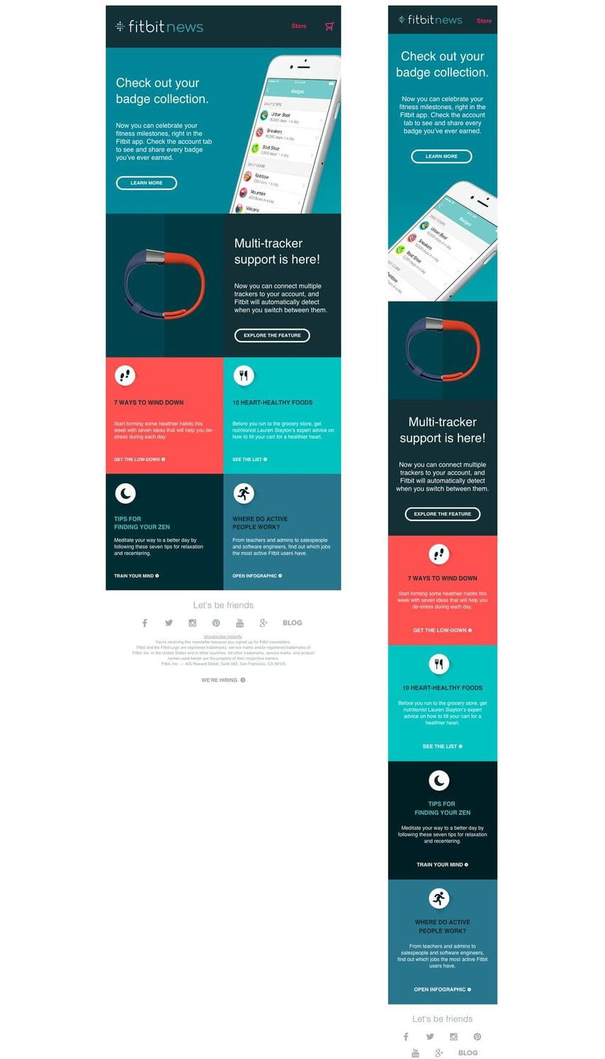 SmartMessage - Example of an Effective Responsive Email